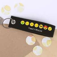 Emoji Schlüsselanhänger mit Wunschtext