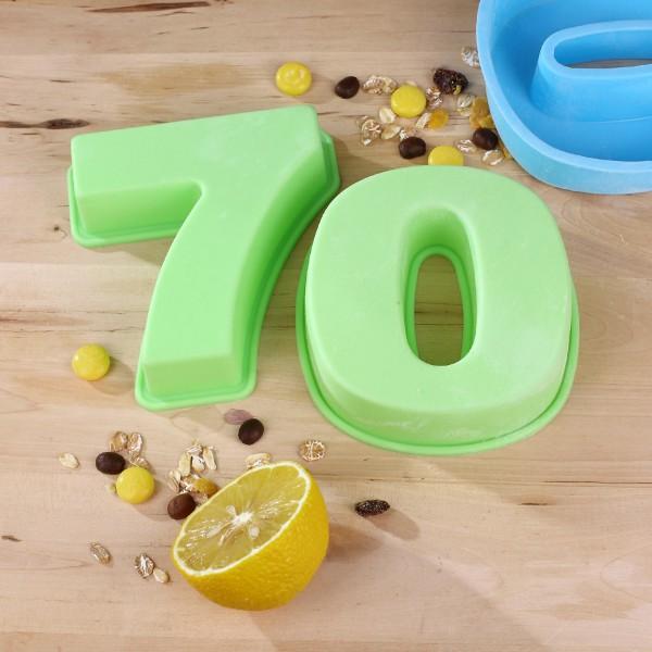Backform zum 70. Geburtstag, grün