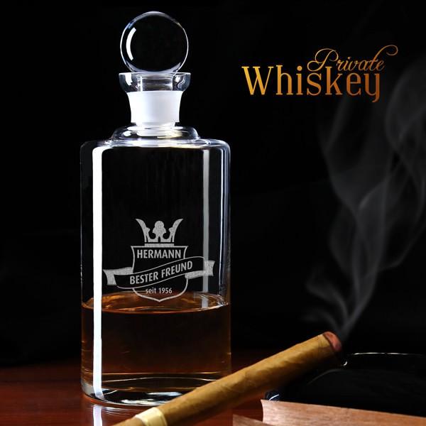 Whisky Karaffe mit Personalisierung - Wappen