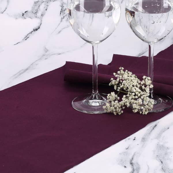 Tischläufer aus Baumwolle Pflaume