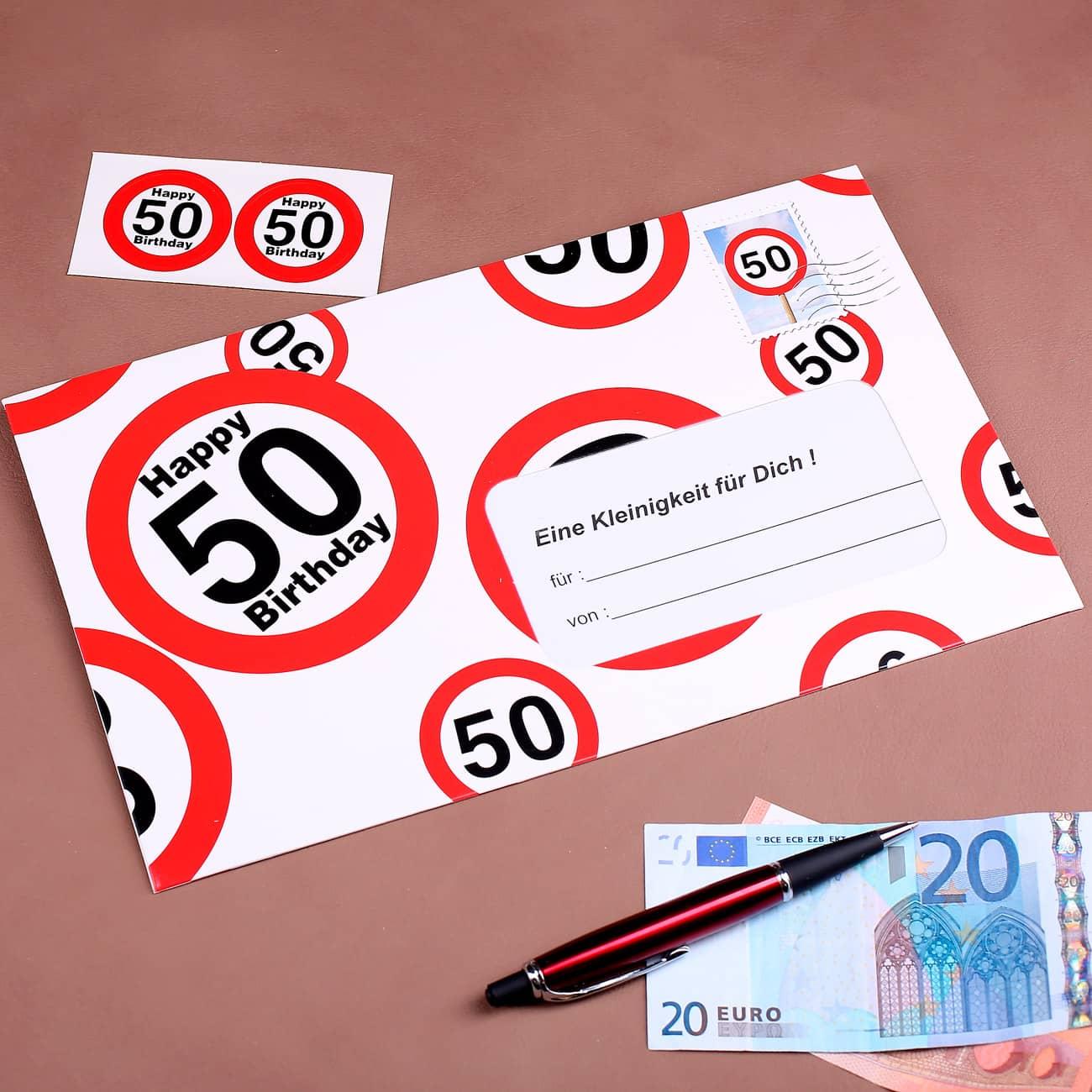 xxl briefumschlag als geldgeschenk zum 50 geburtstag geschenke. Black Bedroom Furniture Sets. Home Design Ideas