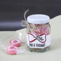 Unendliche Liebe Bonbon Glas mit Namen