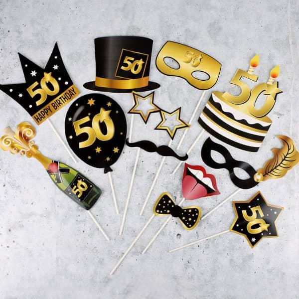 Foto Set Star - Accessoire zum 50. Geburtstag