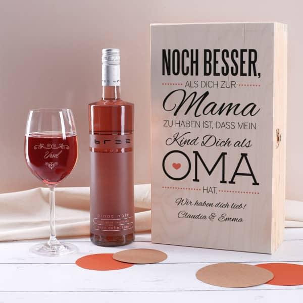 Weingeschenkset für die beste Oma