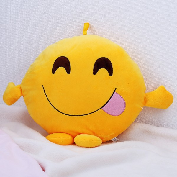 Kissen - Smile-Face Genießer mit Händen und Füßen