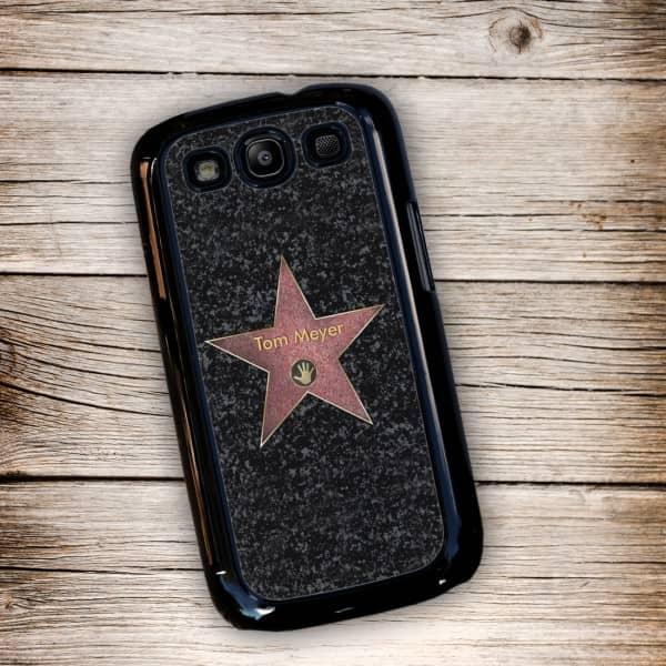 Schwarze Handyhülle für Samsung Galaxy S3 mit Walk of Fame