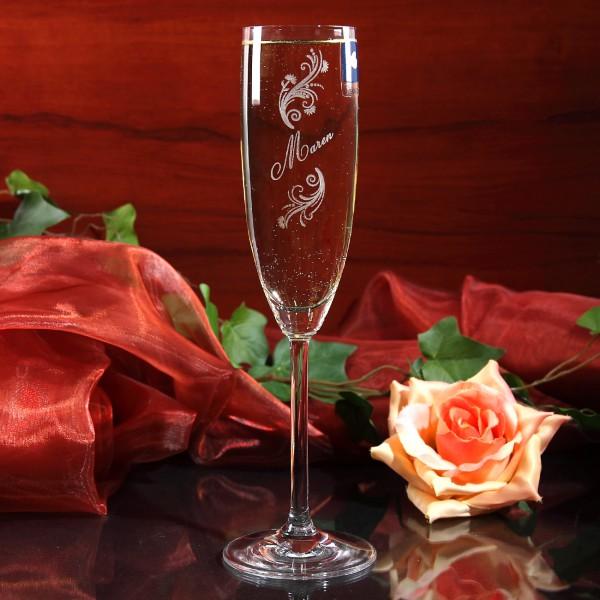 Sektglas Limited mit Gravur