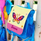 Kinderrucksack mit Schmetterling und Name