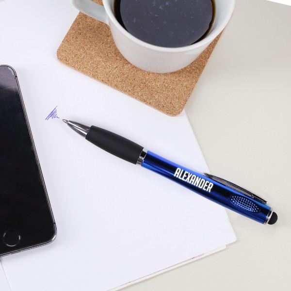 LED Kugelschreiber mit Namensgravur in Rot oder Blau