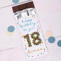 Persönliche Schokolade zum 18. Geburtstag, 100 g