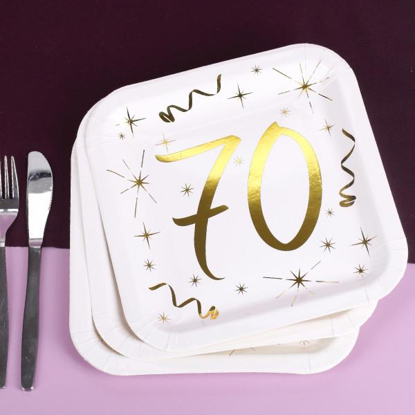 Pappteller zum 70. Geburtstag