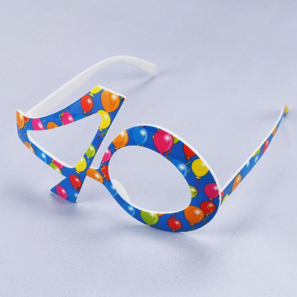Party Brille 40 in blau
