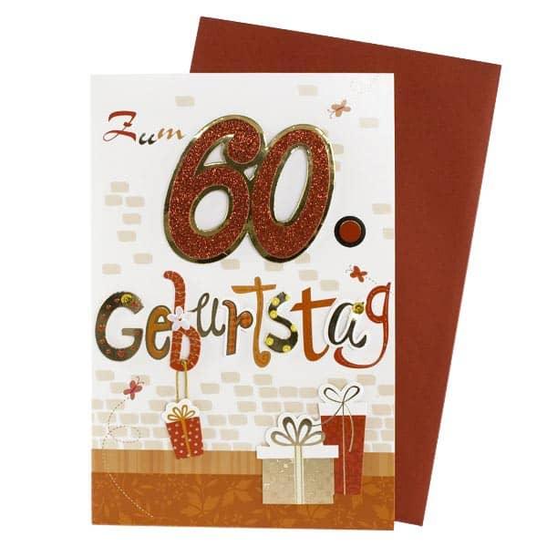 Glitzerkarte zum 60. Geburtstag