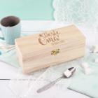 Teebox aus Holz - Beste Oma - mit Namensgravur