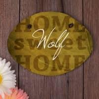 Schiefertafel - Home sweet Home