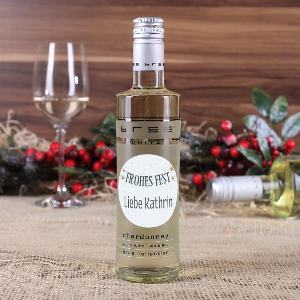 Kleiner BREE Wein zu Weihnachten mit Wunschtext