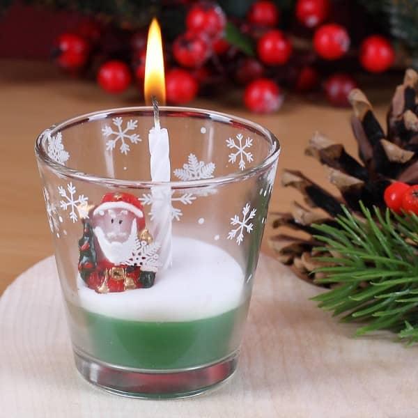 Kerze im Glas - Weihnachtsmann