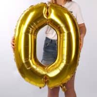 Riesiger Folienballon in Gold - 0