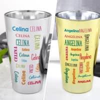 Trinkbecher mit Ihrem Namen in Silber oder Gold