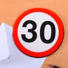Verkehrszeichen Karte zum 30. Geburtstag