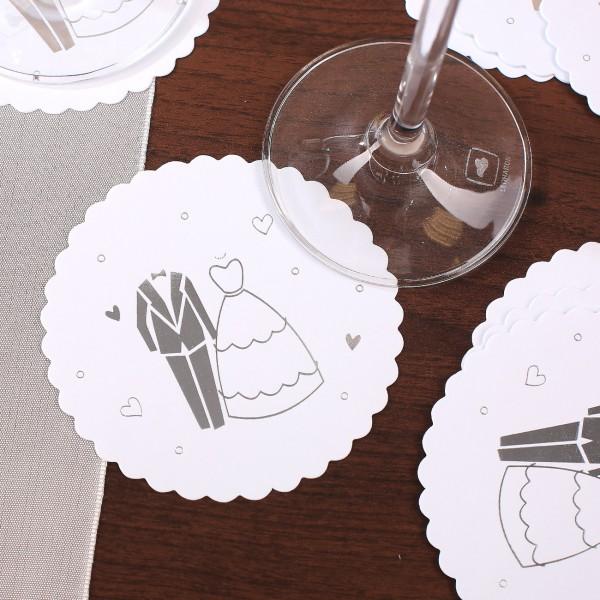 Papier Untersetzer zur Hochzeit