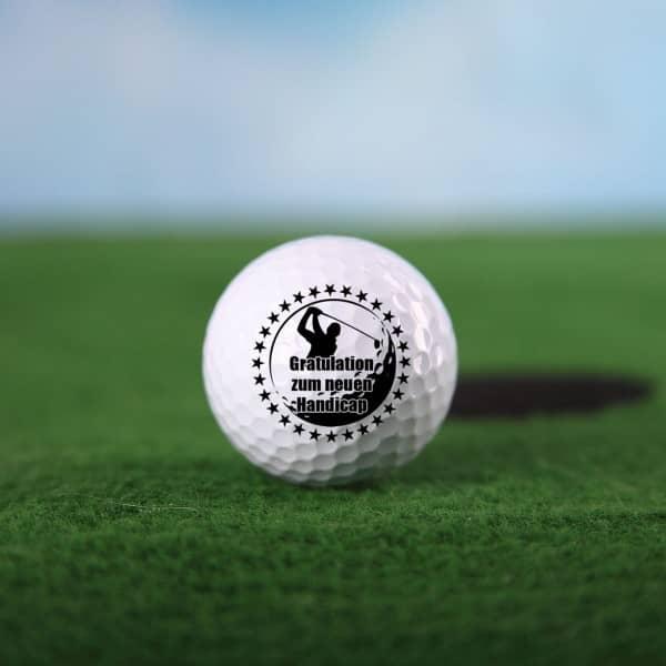 3er Set Golfbälle mit persönlichem Spruch