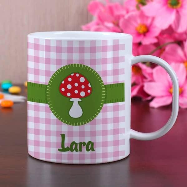 Glückspilz Tasse aus Melamin mit Wunschname