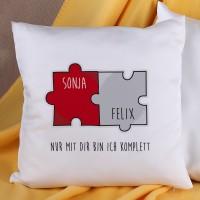 Kissen mit Puzzle-Motiv für Paare