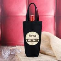 Flaschenbeutel Vintage mit Namensaufdruck