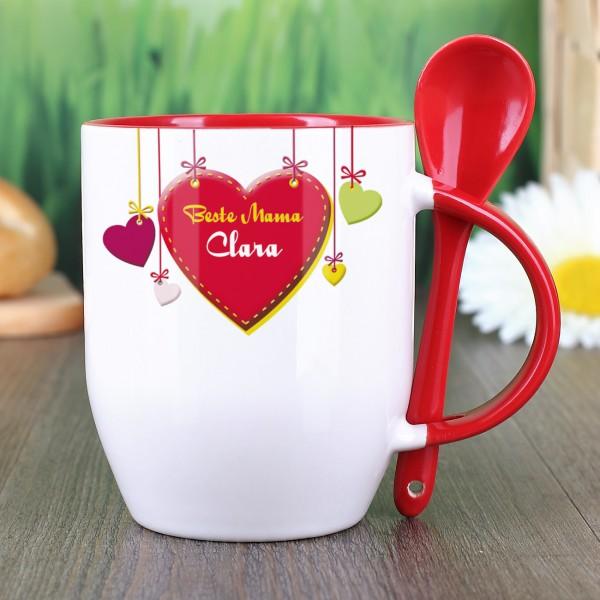 Löffel-Tasse für die beste Mama