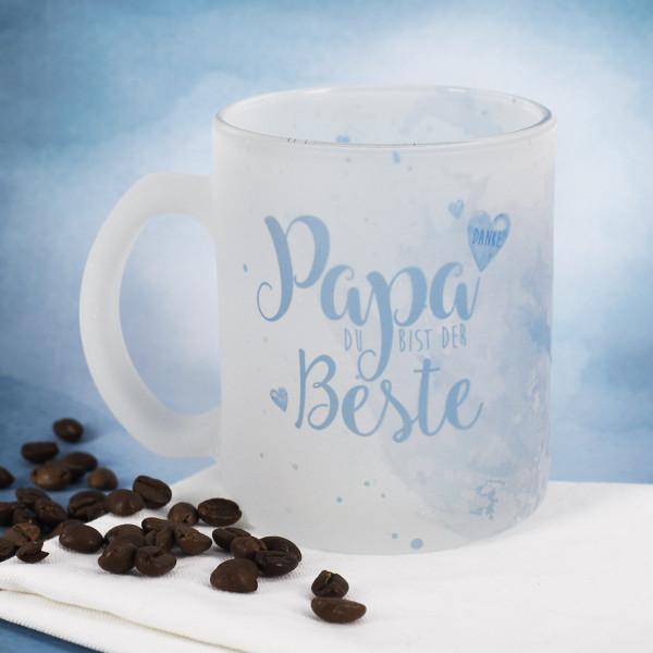 Glastasse für den besten Papa