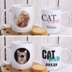 Fototasse Cat Mom   Cat Dad mit Ihrem Wunschnamen