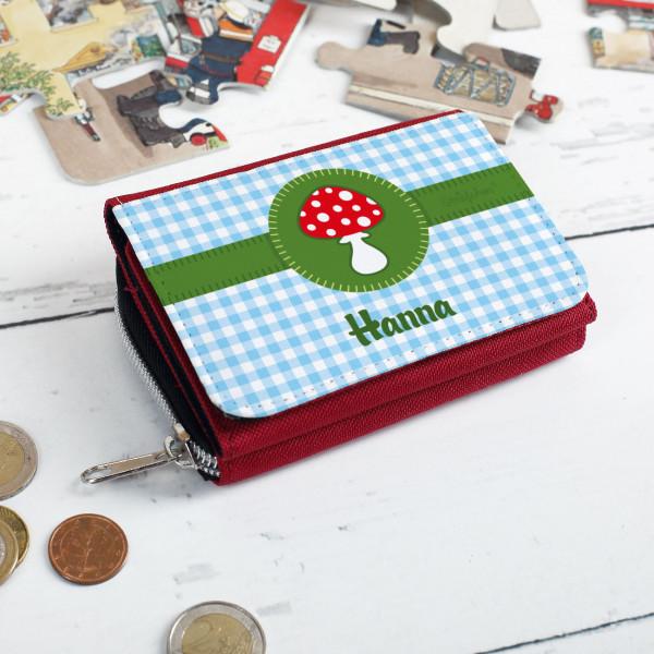 Kindergeldbörse mit Glückspilz und Wunschname