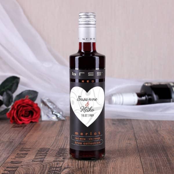 kleiner Bree Rotwein mit persönlichem Etikett