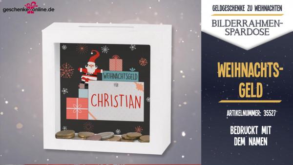 Geld als Weihnachtsgeschenk stilvoll verschenken