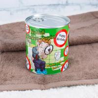 Notfall Toilettenpapier in der Dose Happy Birthday