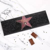 Riesige Schokolade -Walk of Fame- mit Wunschname