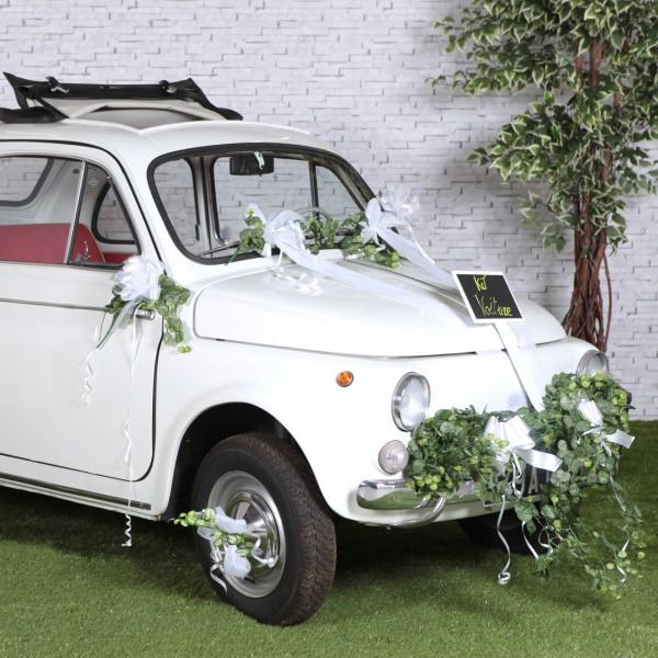 6 teiliges Set Schleifenbänder für das Hochzeitsauto