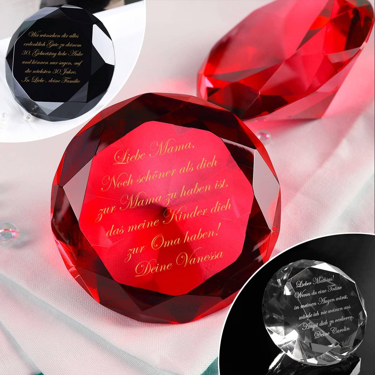 Xxl Diamant Mit Gravur Ihres Wunschtextes