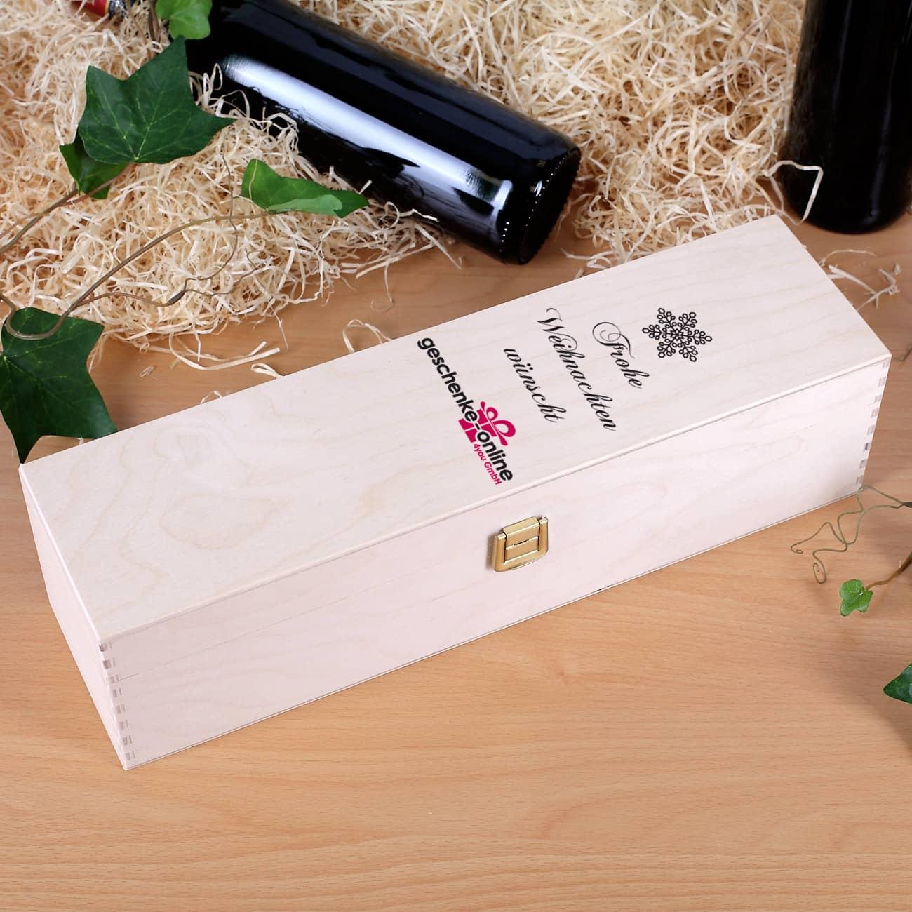 wein geschenkbox aus holz mit eigenen firmenlogo. Black Bedroom Furniture Sets. Home Design Ideas