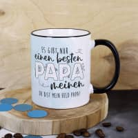 Es gibt nur einen besten Papa - Tasse mit Ihrem Wunschtext