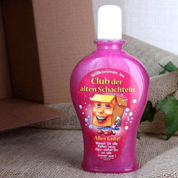Witzigspassgeschenke - Shampoo Club der alten Schachteln (rosa) - Onlineshop Geschenke online.de