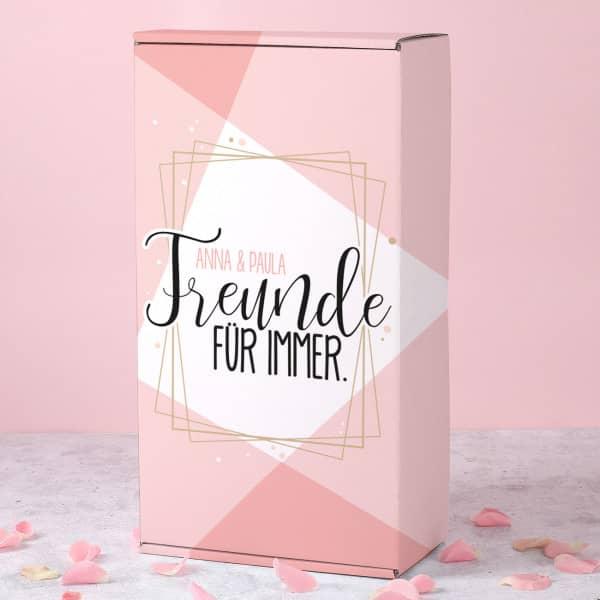 Freunde für immer - Geschenkverpackung mit Ihren Wunschnamen