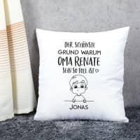 Die schönsten Gründe ... zu sein - Kissen mit den Namen der Kinder bedruckt