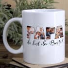 Fototasse - Papa du bist der Beste! - mit 4 Bildern