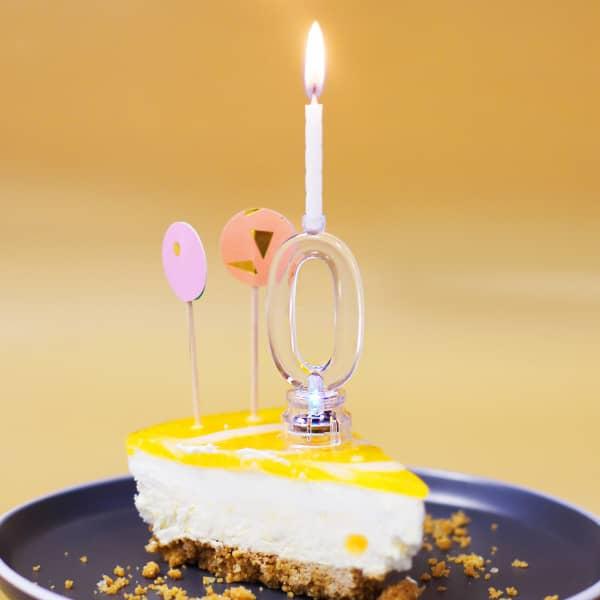 Torten Deko Zahl 0