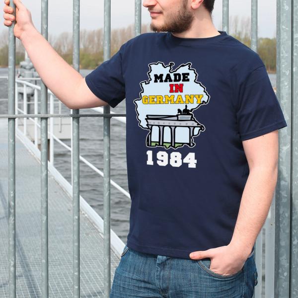 Männer T-Shirt Made in Germany mit Geburtsjahr