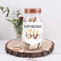 Wunschglas zum Geburtstag mit Name und Alter