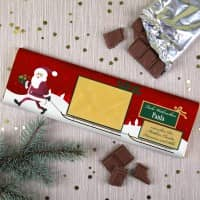 300g Weihnachtsschokolade mit Geldumschlag und Wunschtext