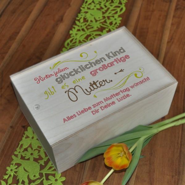 Geschenkverpackung zum Muttertag aus Holz